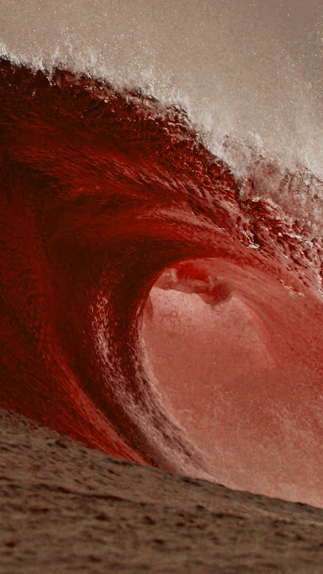 Sea Blood Ocean Wave Nature