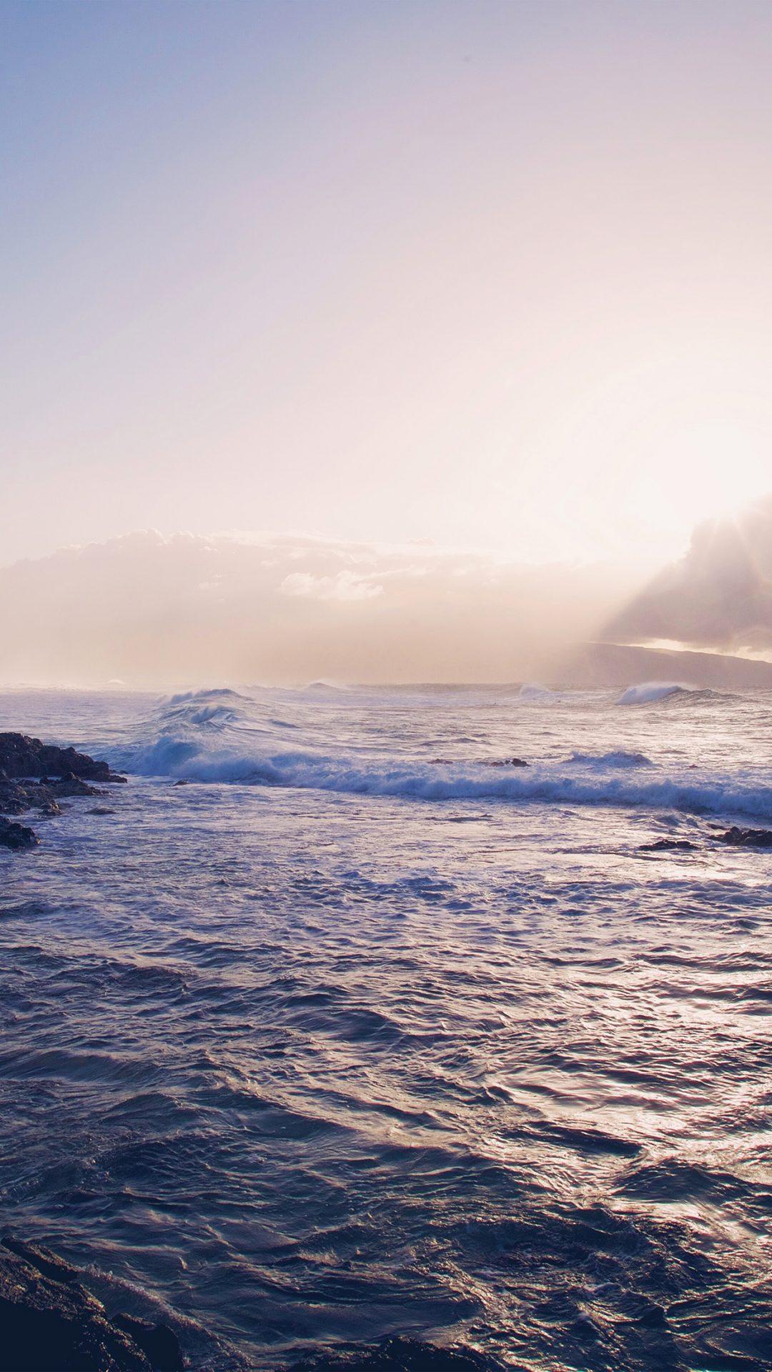 Sea Ocean Rock Nature Wave Sky