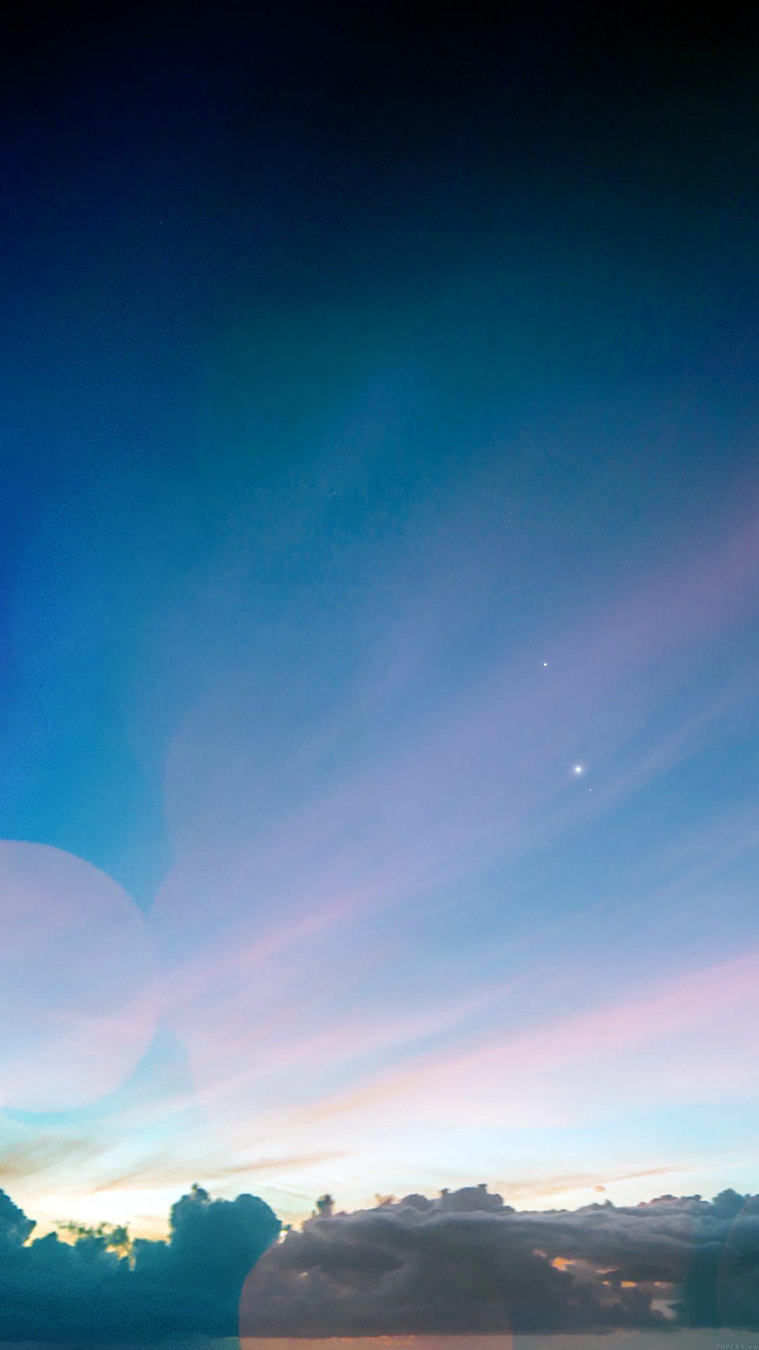 Sky Blue Sunshine Healing Nature Star Bokeh