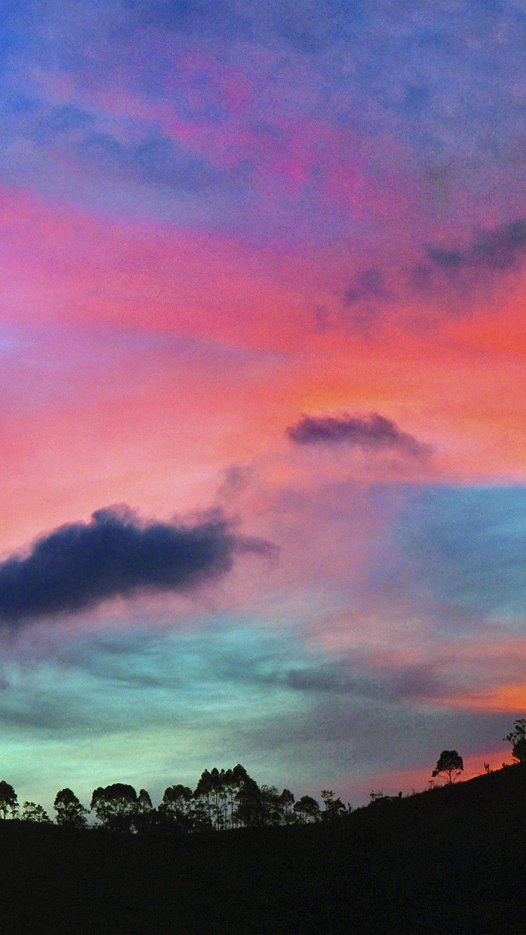 Sky Rainbow Cloud Sunset Nature