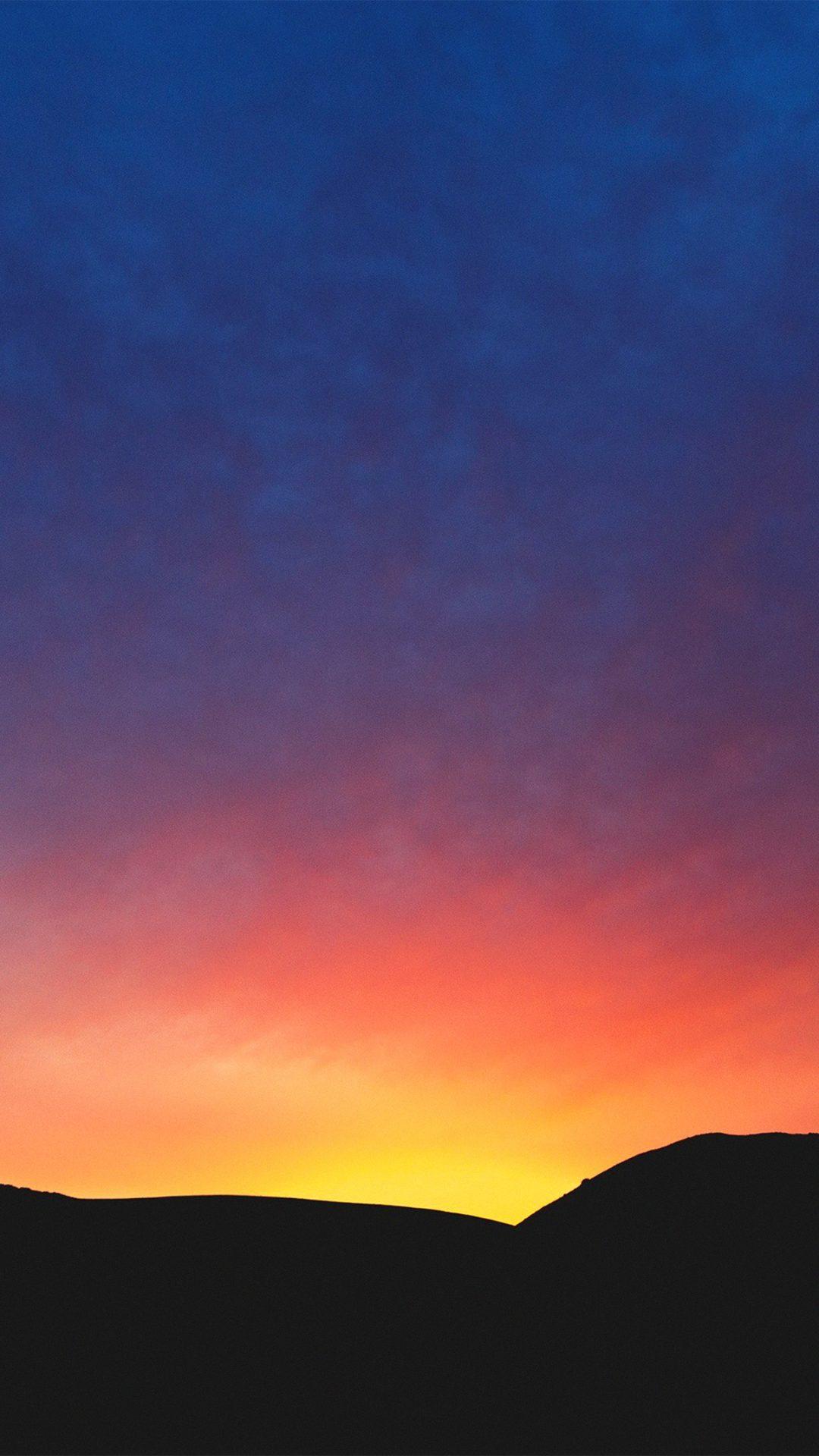 Sky Sunshine Morning Red Blue Nature