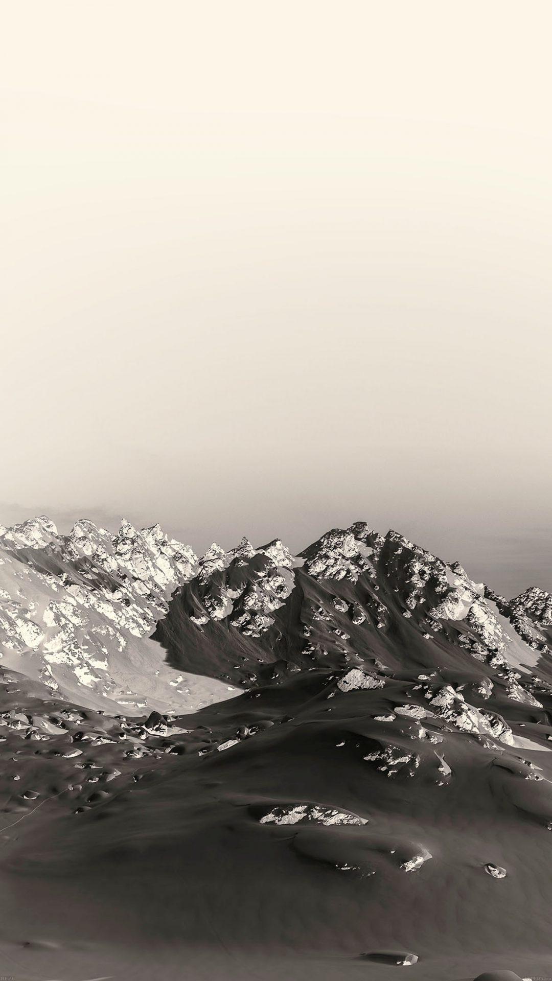 Snow Mountain Old Sefia Nature