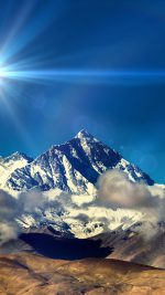 Snow Solo Mountain High Nature Blue Flare