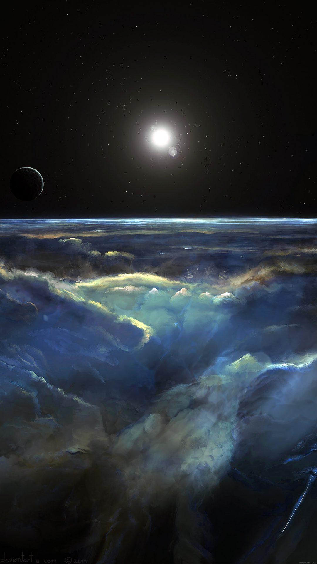 Space View Art Illust Dark