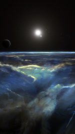 Space View Art Illust Dark