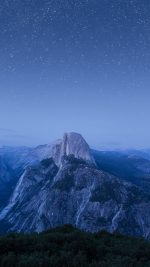 Starry Night Blue Summer Mountain Nature Awesome