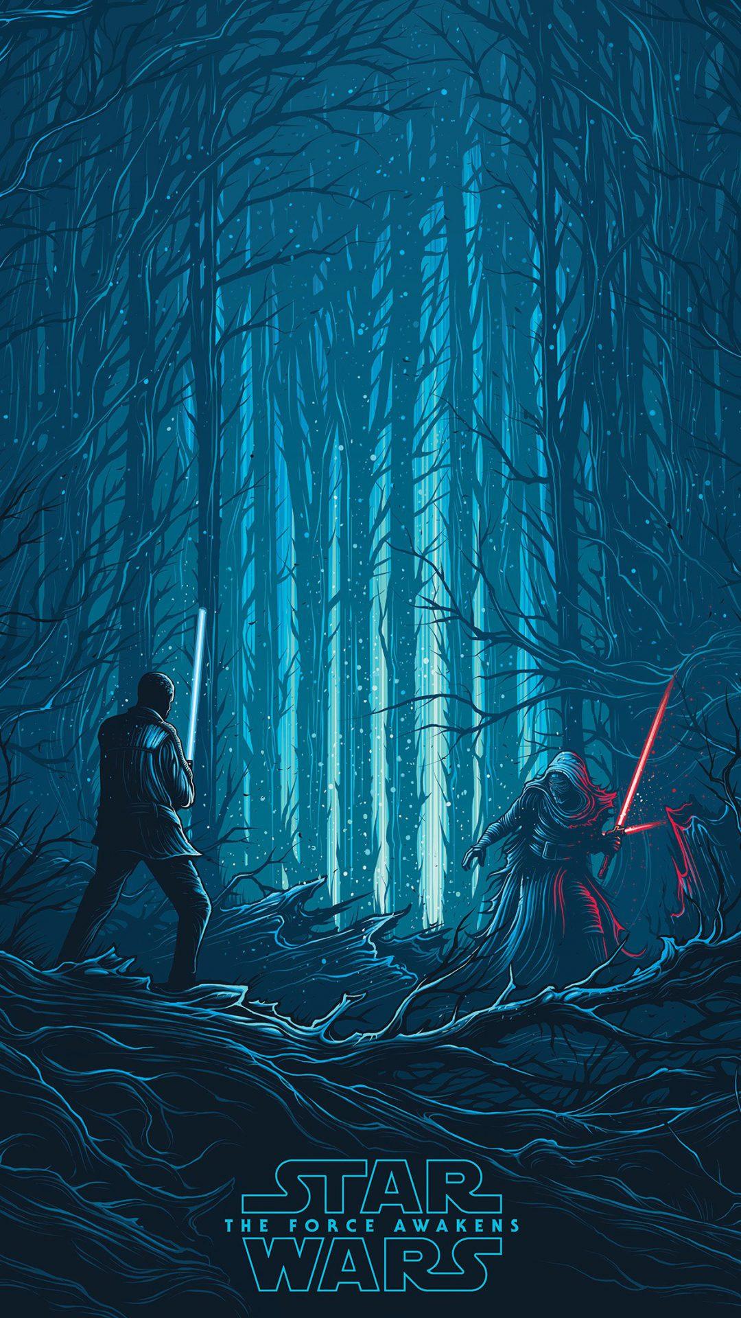 Starwars Illustration Blue Art Film