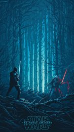 Starwars Illustration Blue Art Film