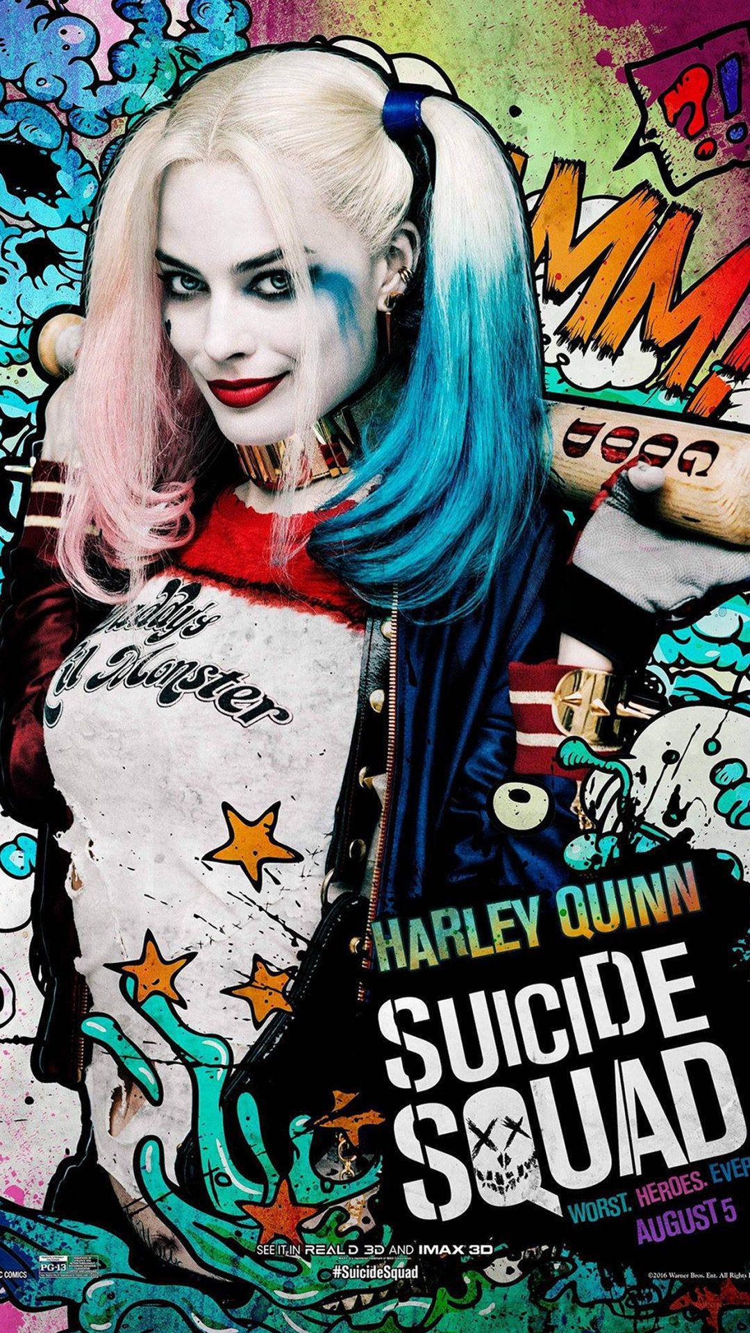 Suicide Squad Film Poster Art Illustration Joker Haley Quinn