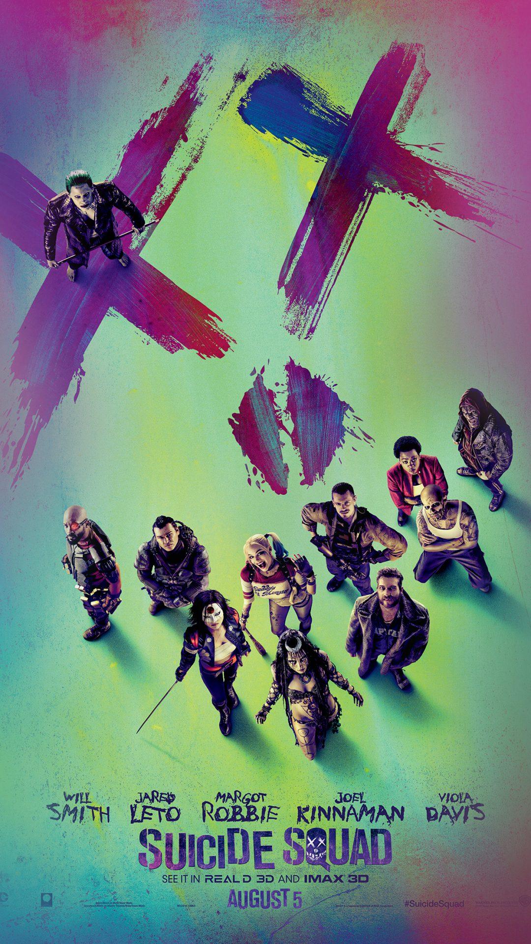 Suicide Squad Poster Film Colorful Art Illustration