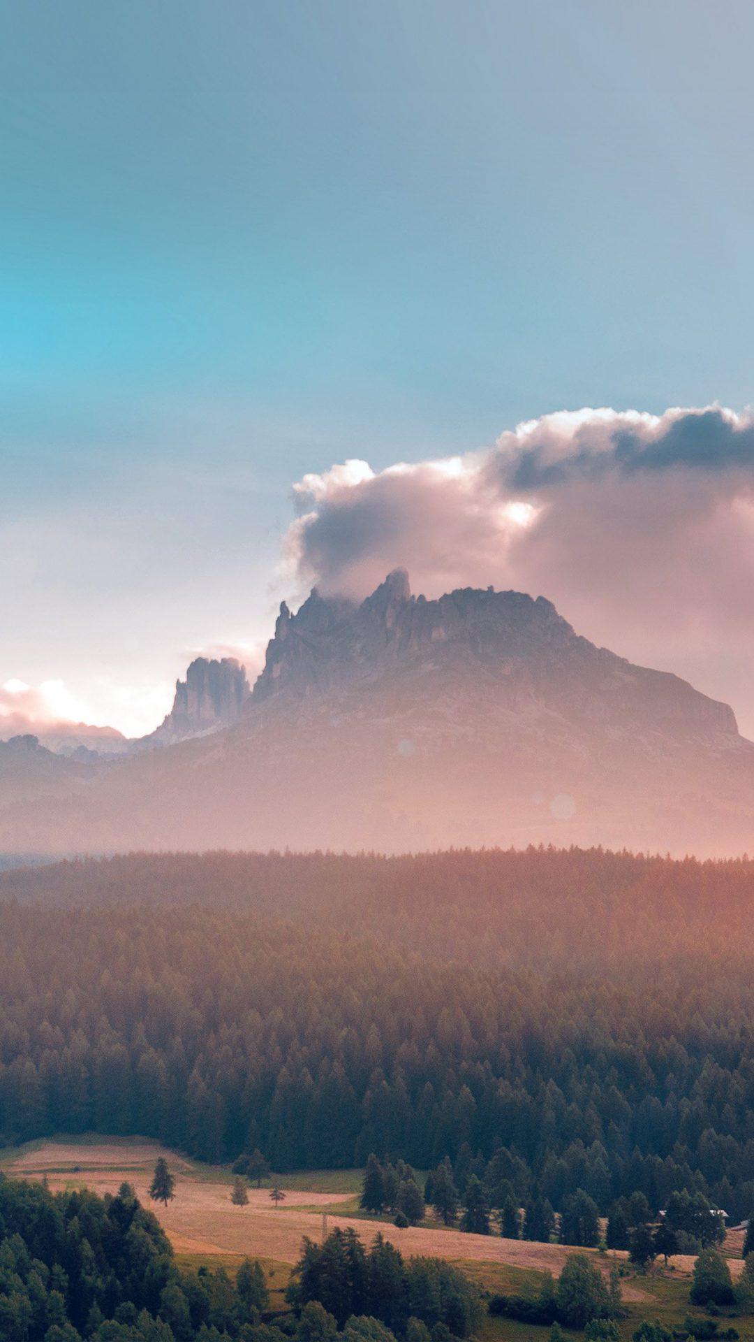 Summer Mountain Nature Volcano Flare