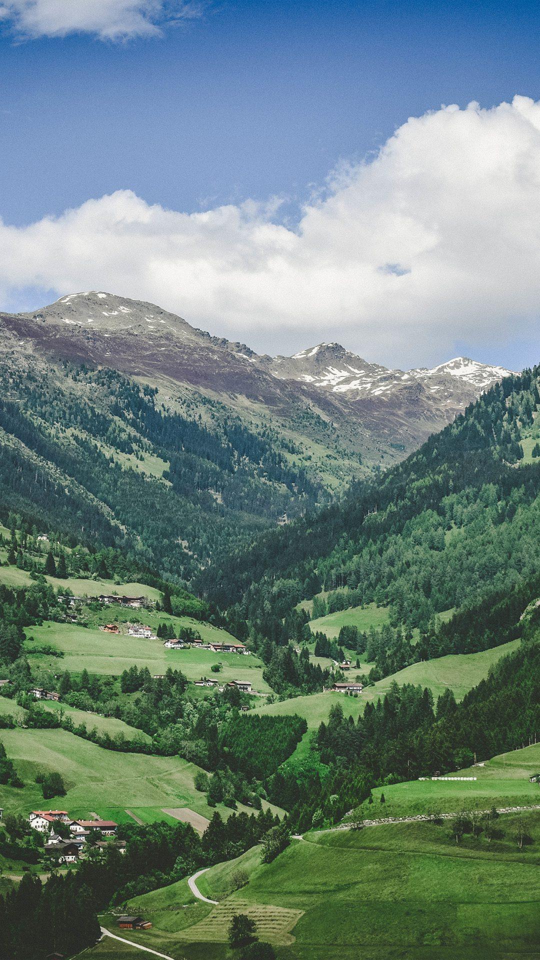 Summer Mountain Town Nature Green Swiss