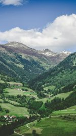 Summer Mountain Town Nature Green Swiss