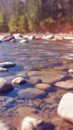 Summer Rocks River Lake Nature Mountain Flare