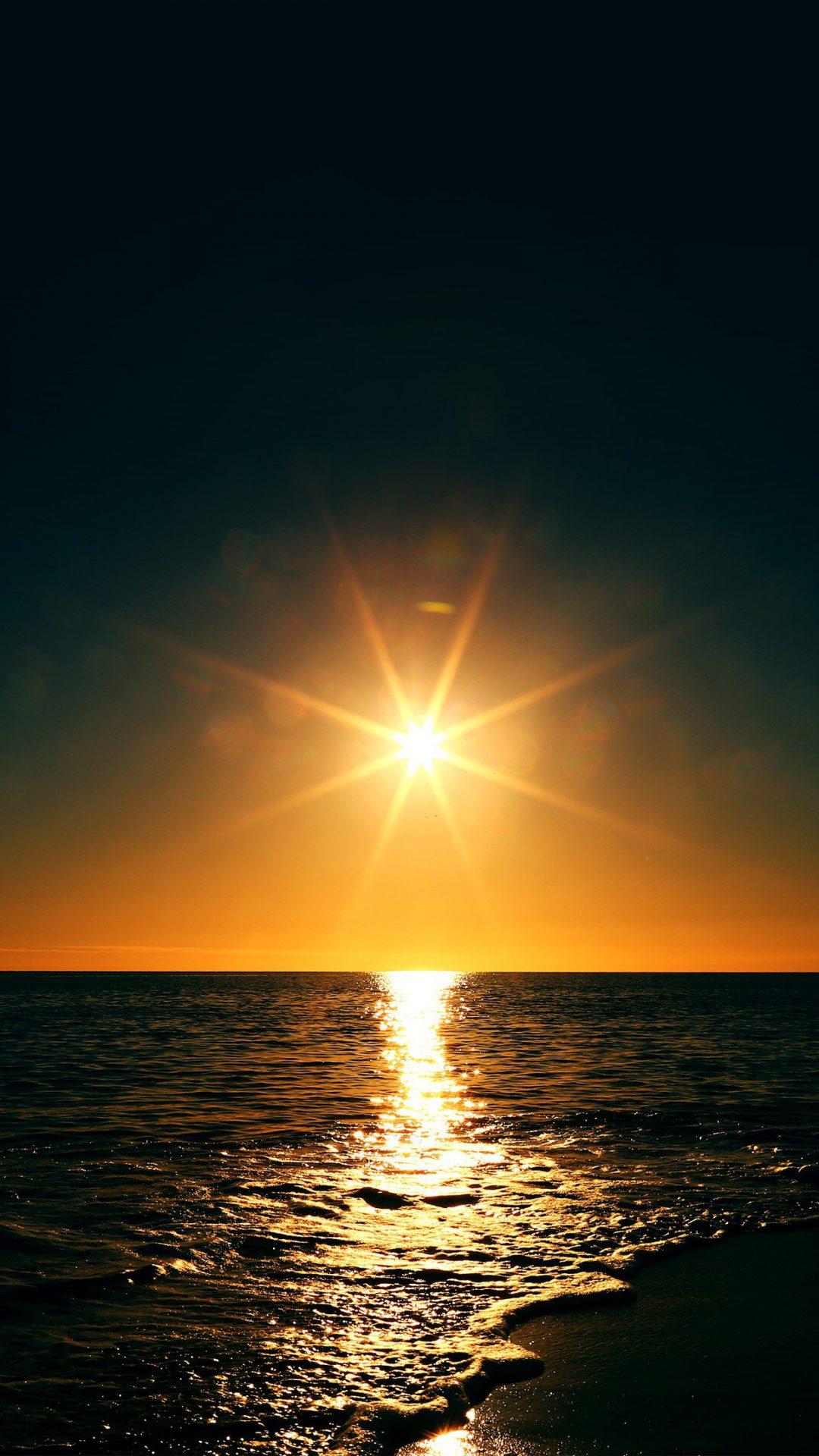 Sunset Beach Sea Nature Sky