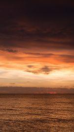 Sunset Lake Sea Water Sky Cloud Nature