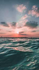 Sunset Sea Sky Ocean Summer Green Water Nature