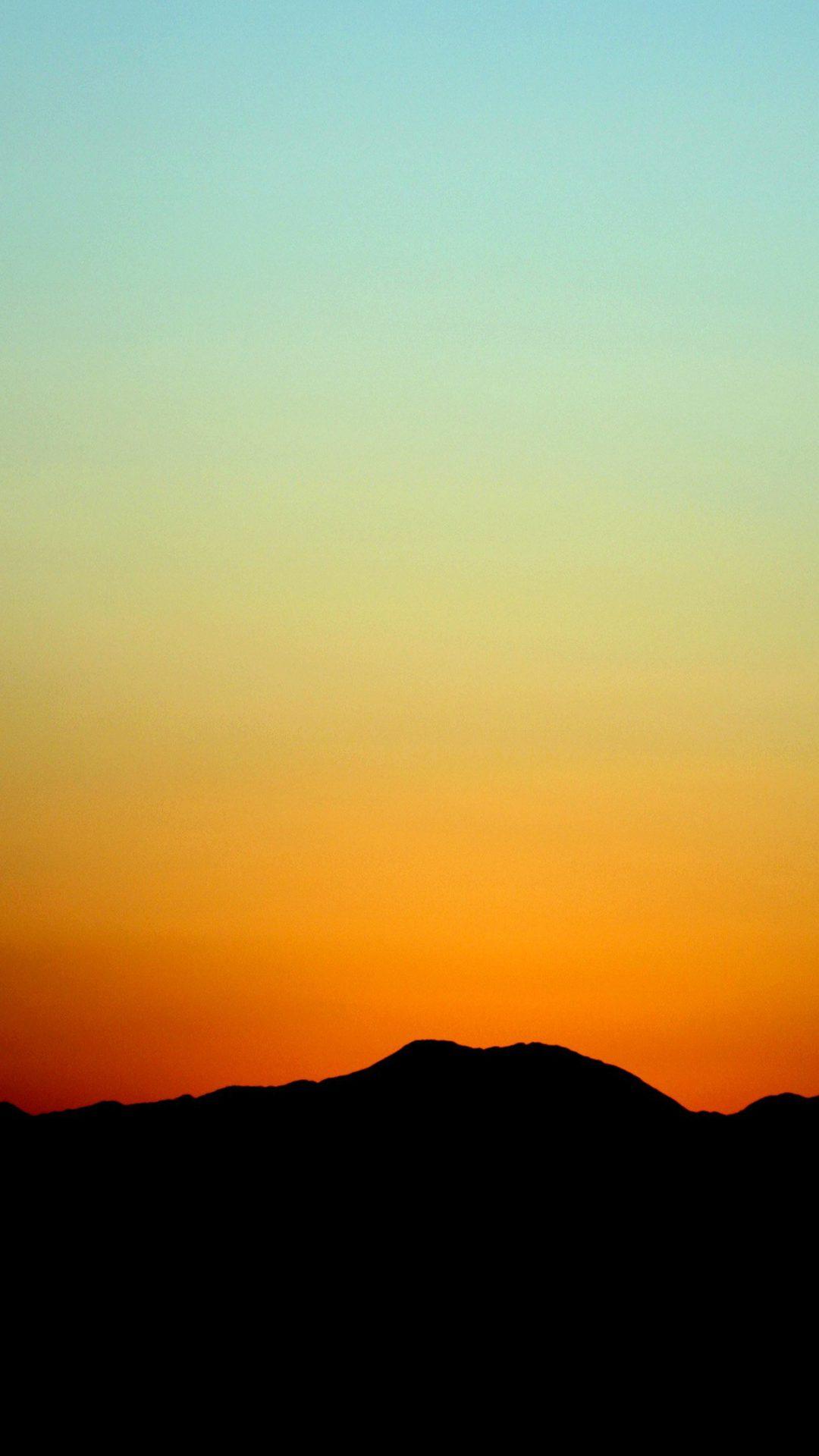 Sunset Sky Minimal Nature Red
