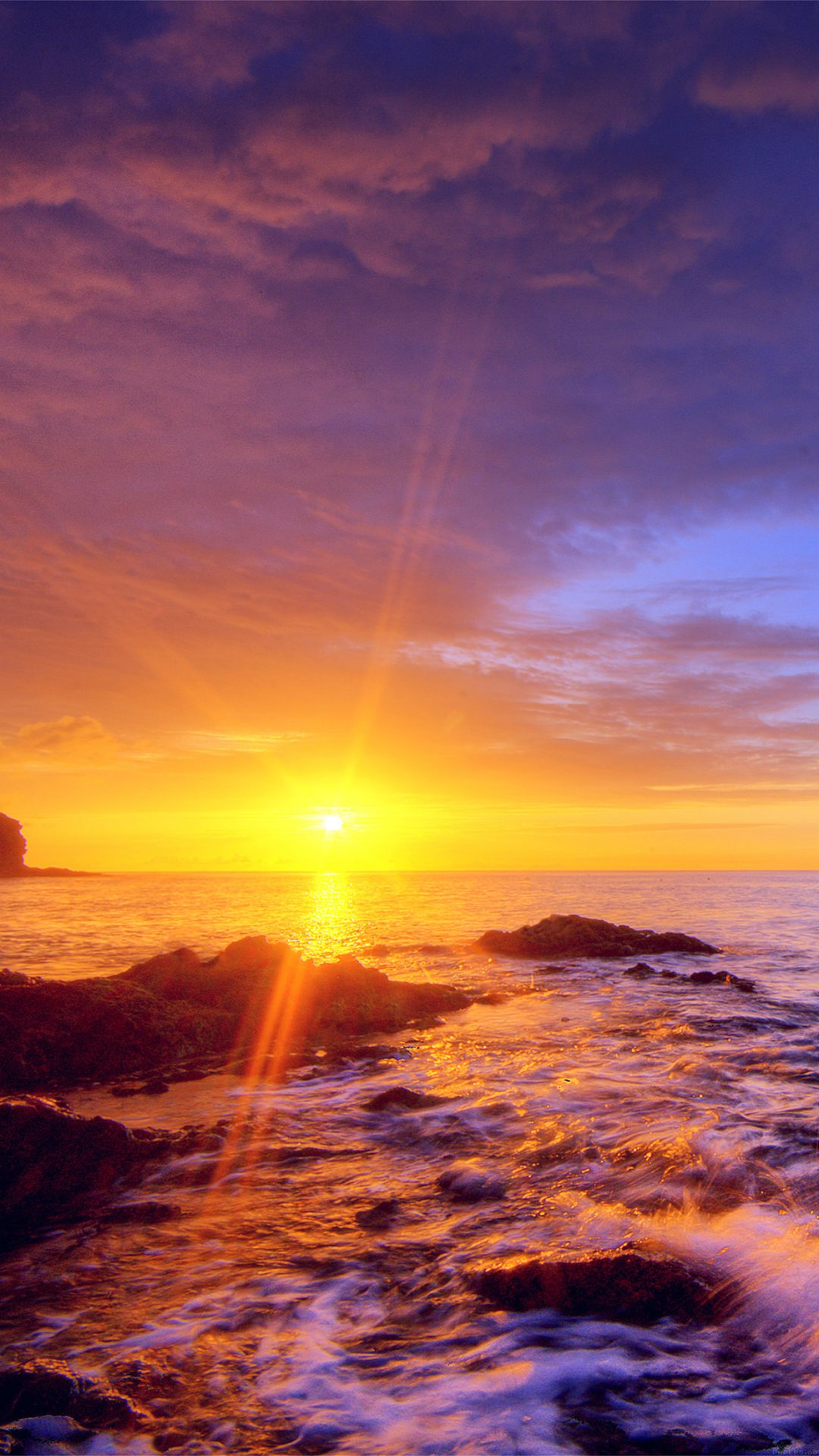 Sunshine Evening Sunset Beach Rock Nature
