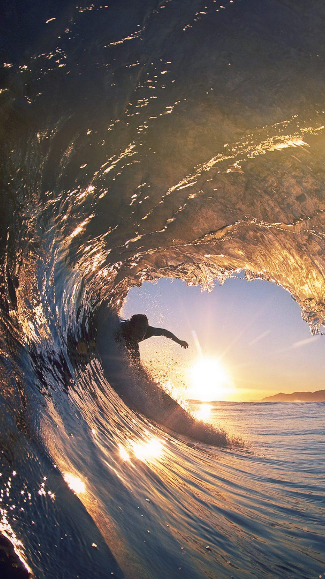 Surf Wave Sea Nature Sunshine Flare