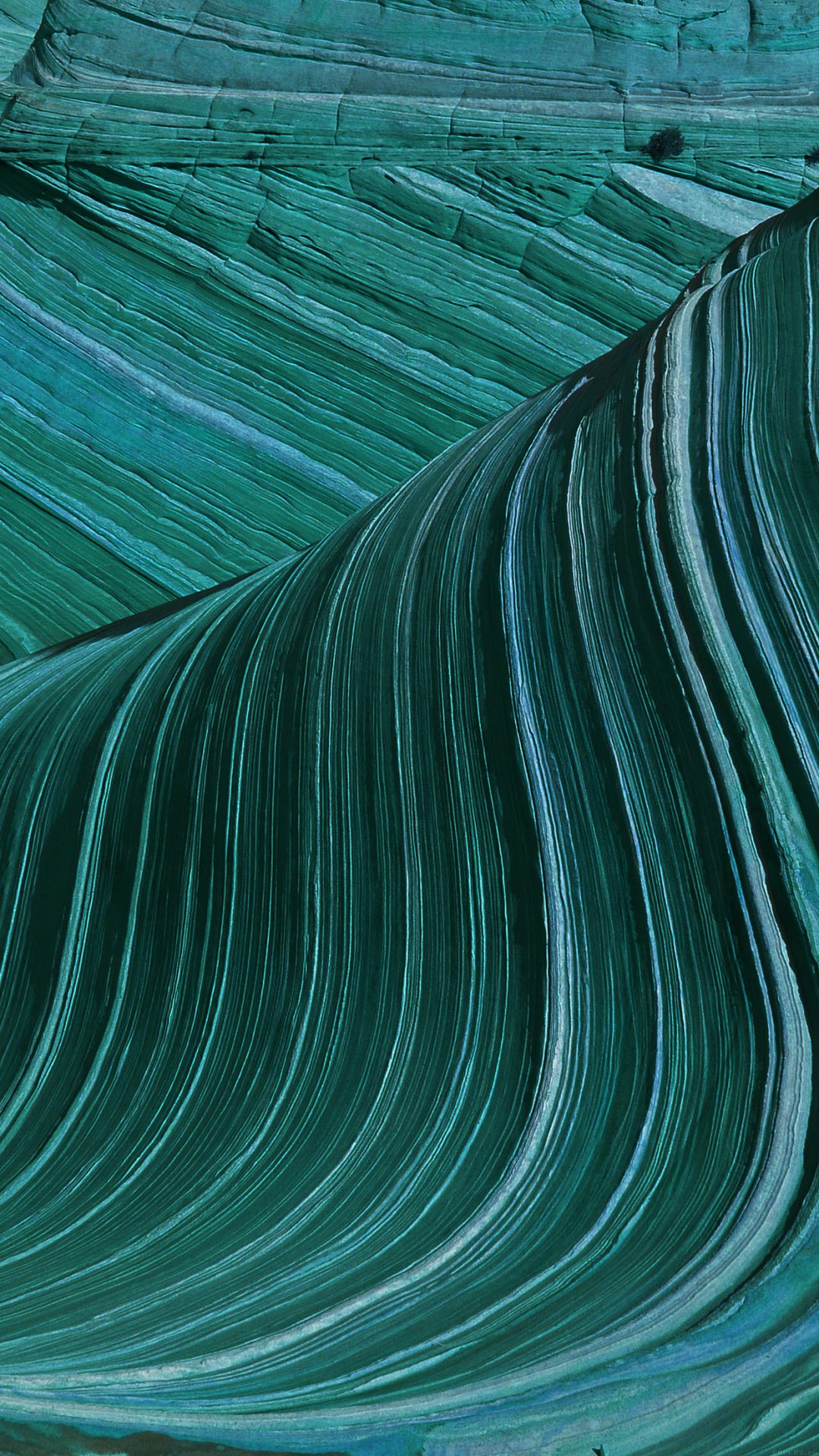 Swirling Patterns Wave Green Mountain Nature