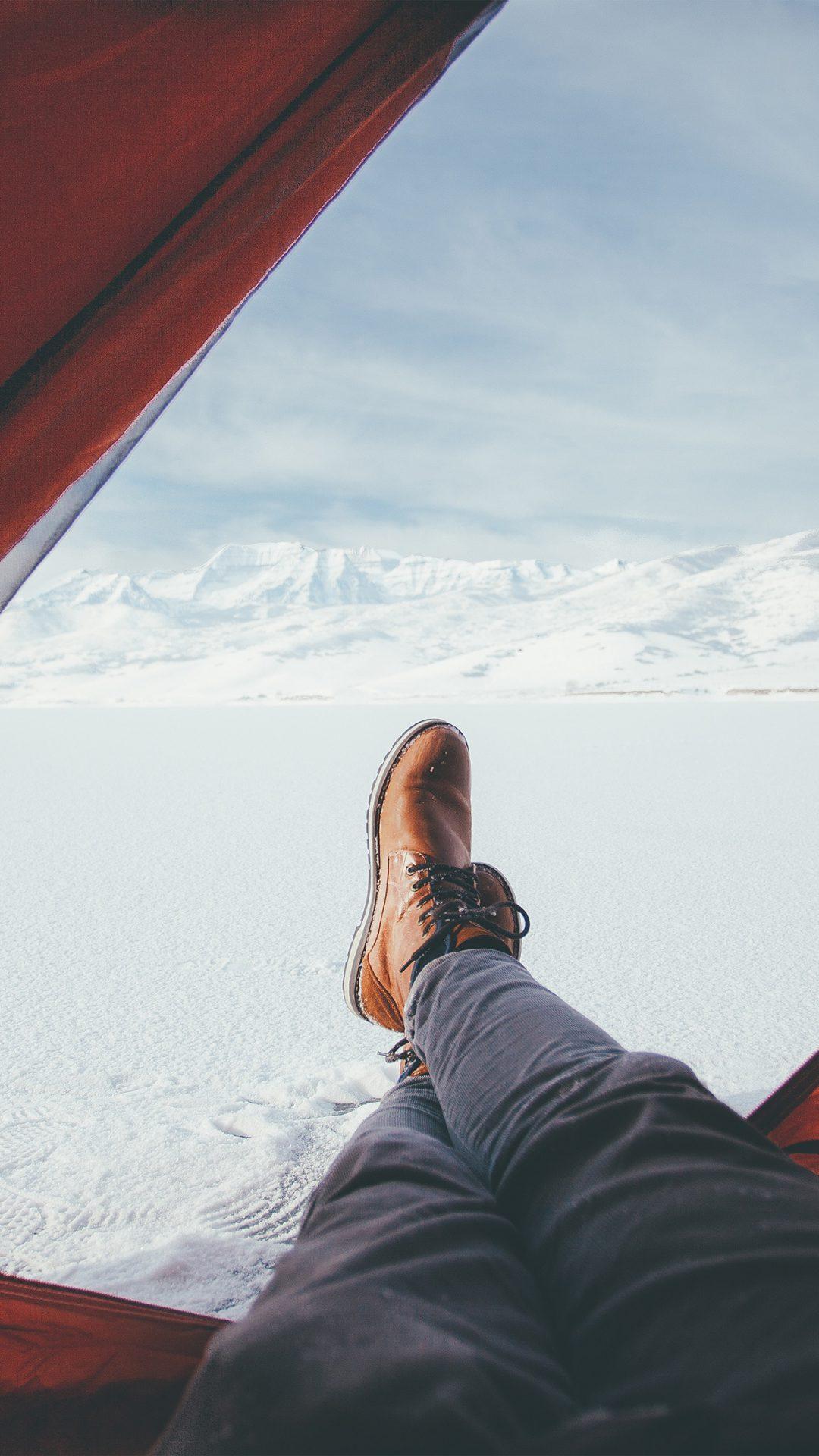 Tend Snow Artic Winter Camp Nature