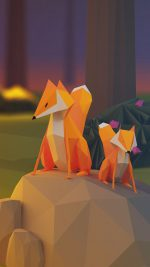 Two Fox Illust Art 3d Animal