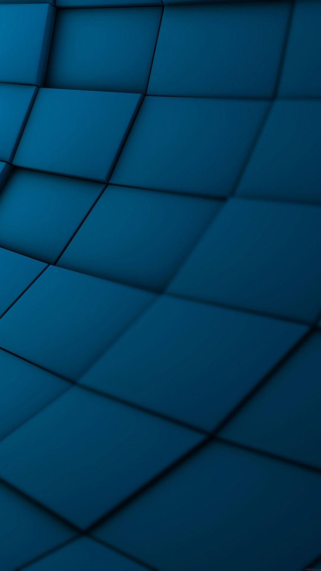 Wallpaper Brick 3ds Blue Pattern