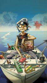 Wallpaper Gorillaz Boat Illust Music