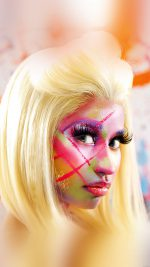 Wallpaper Nicki Minaj Face Girl Music
