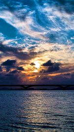 Wallpaper Sun Over The Sea Nature
