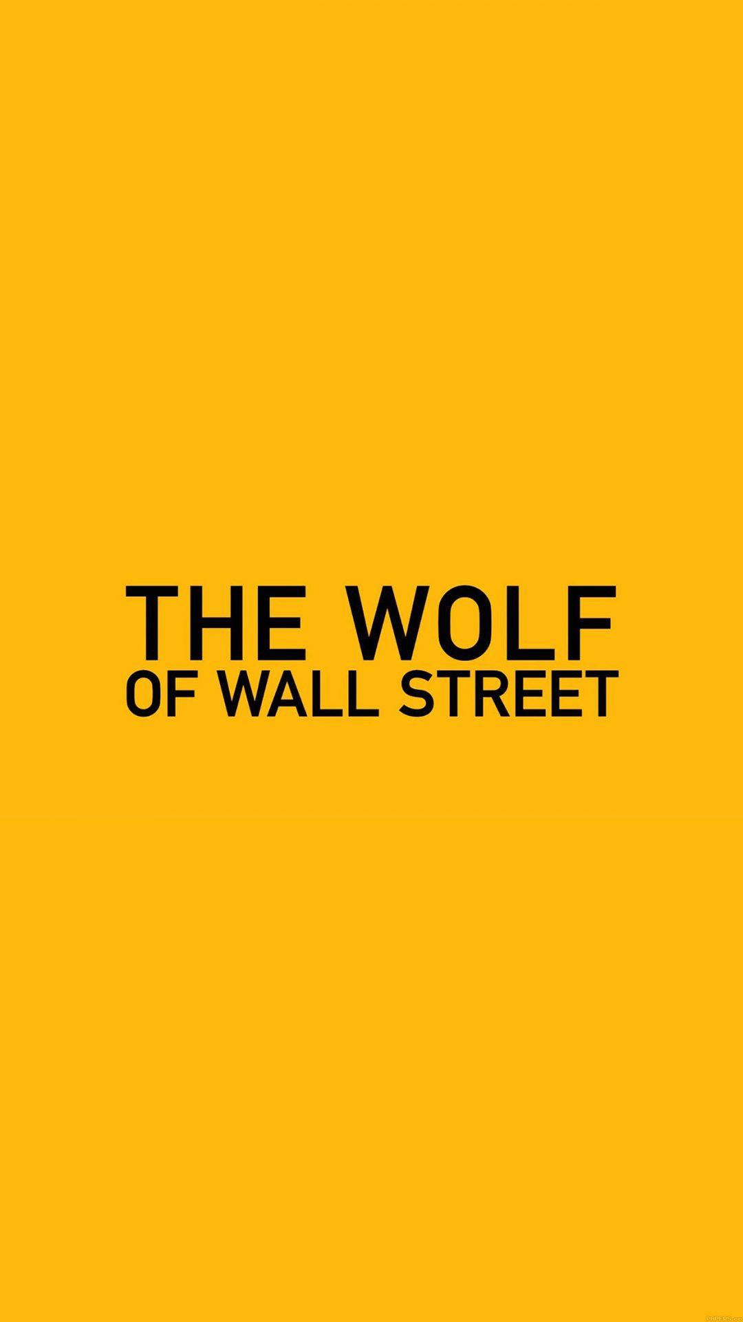 Wallpaper The Wolf Of Wallstreet Yellow Film Logo