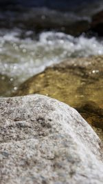 Water Rocks River Nature Bokeh