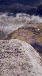Water Rocks River Nature Bokeh Flare