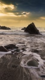 Wave Ocean Beach Sunset Owen Walters Nature