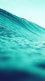 Wave Sea Blue Green Water Nature
