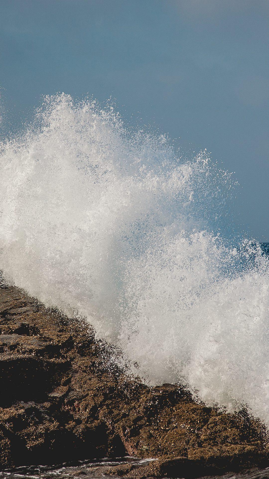 Wave Summer Cool Sea Rock Nature Blue