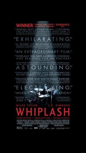 Whiplash Poster Film Music Drum Dark