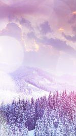 Winter Mountain Snow White Flare Nature