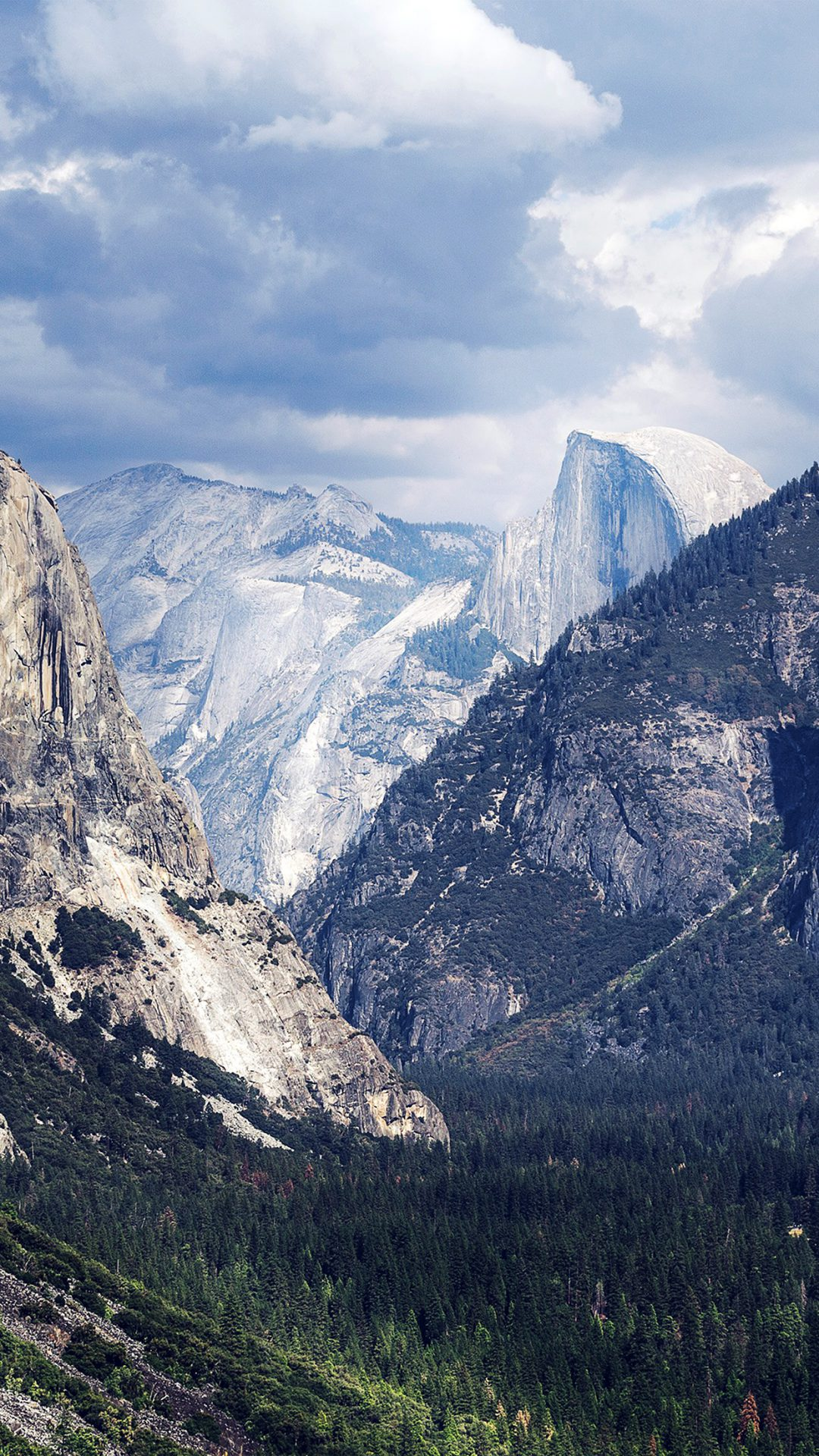 Yosemite Mountain Nature Rock Sky Forest Cloud Blue