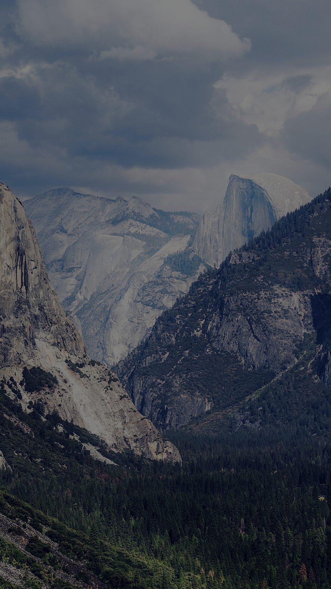 Yosemite Mountain Nature Rock Sky Forest Cloud Dark