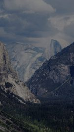 Yosemite Mountain Nature Rock Sky Forest Cloud Dark