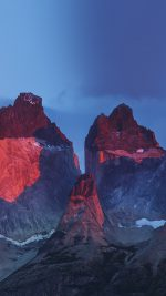 Yosemite Mountain Red Blue Nature Cold