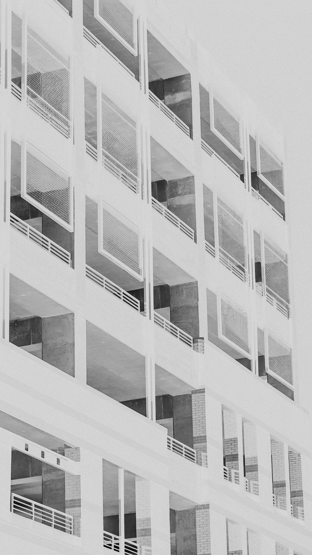 Bw Night Building Window White Architecture City