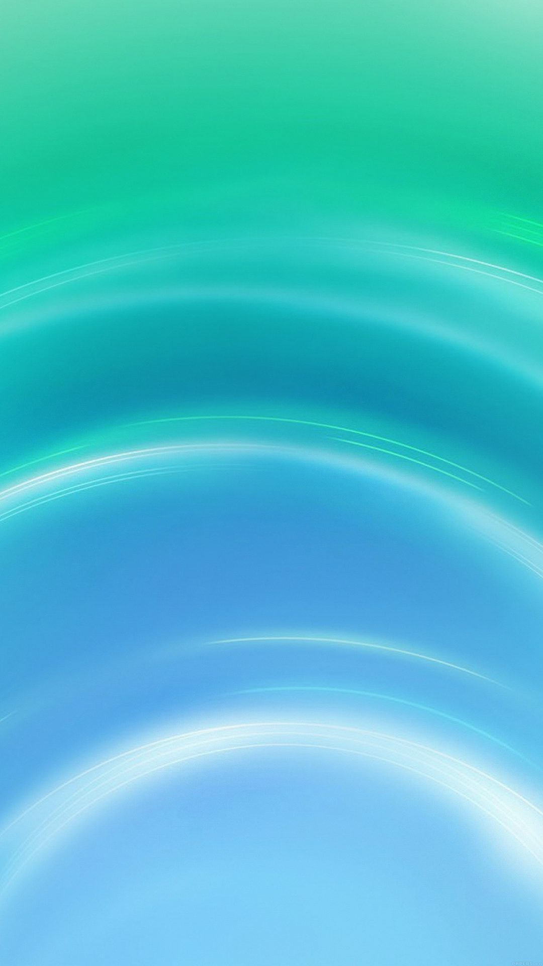 Circle Blue Green Abstract Light Pattern