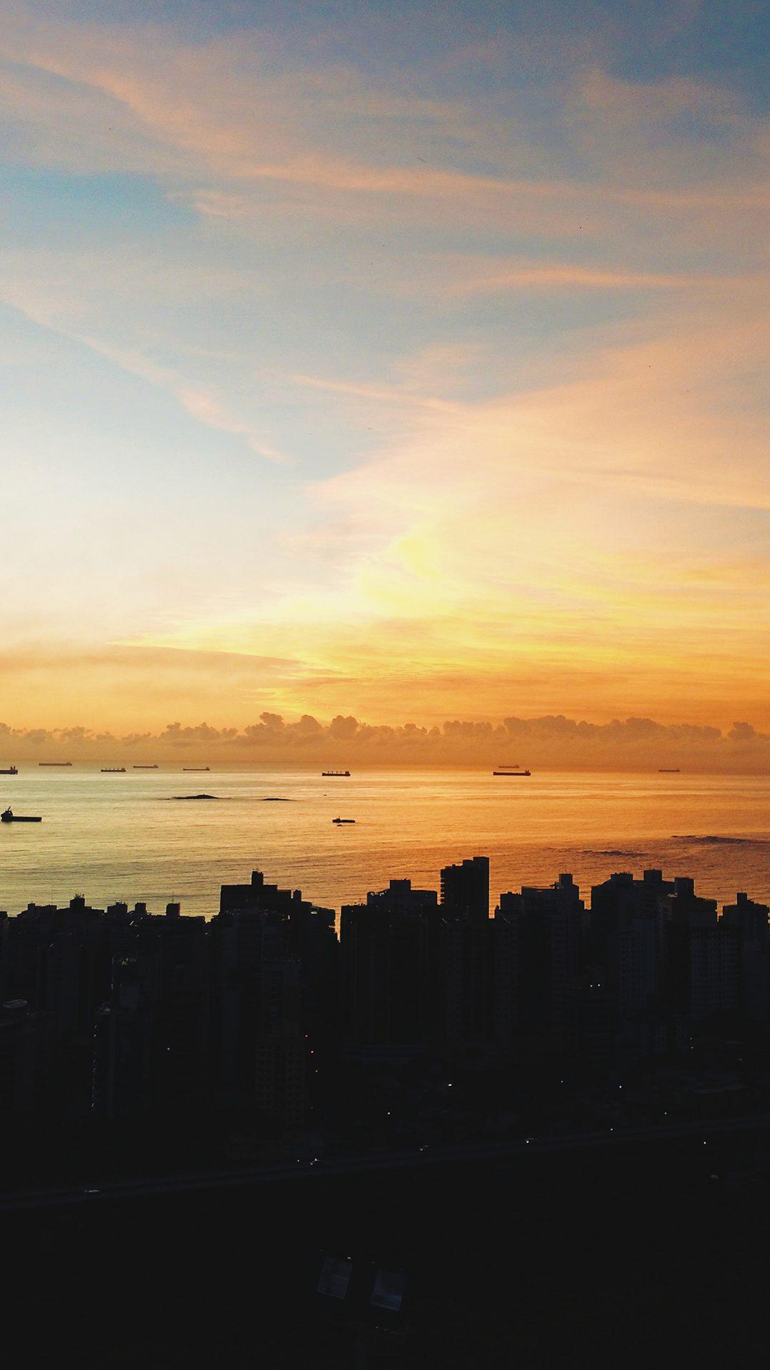 City Night Sunset Sky Nature