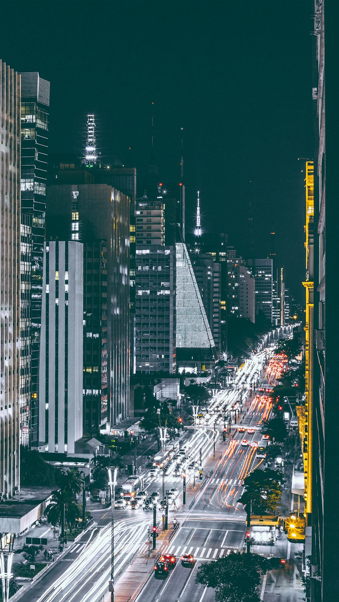 City Night View Urban Street