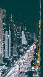 City Night View Urban Street