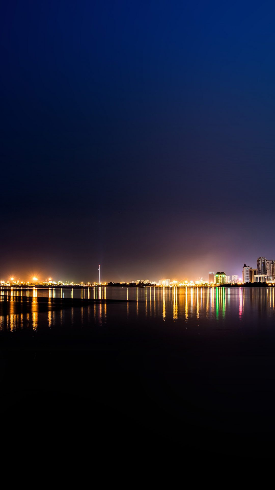 City Water River Night Light Bokeh
