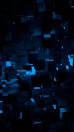 Cube Dark Blue Abstract Pattern